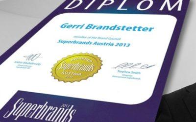 Gerri Brandstetter seit 2013 im Brand Council  by Superbrands Austria